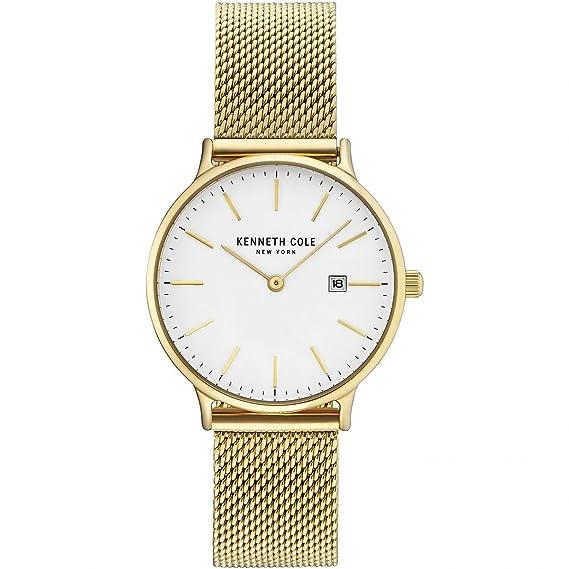 Kenneth Cole Reloj Analógico para Mujer de Cuarzo con Correa en Acero Inoxidable KC15057006: Amazon.es: Relojes