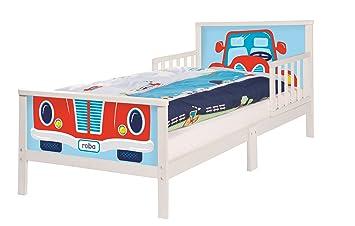 Roba Themenbett U0027Rennfahreru0027, Kinderbett 70x140cm Inkl. Matratze,  Bettwäsche Und Lattenrost Für