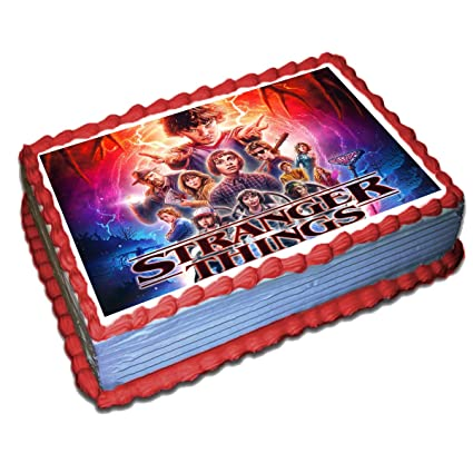 Stranger Things Edible Cake Toppers Icing Sugar Paper 8.5 x 11.5 Inches Sheet Edible Frosting Photo Birthday Cake Topper Fondant Transfer (Best ...
