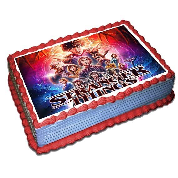 Stranger Things - Decoración comestible para tartas, papel ...