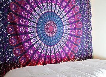 Tela india de estilo hippie con diseño de mandala, decorativa, tapiz para pared, toalla de playa, para practicar yoga, alfombra o bufanda: Amazon.es: ...