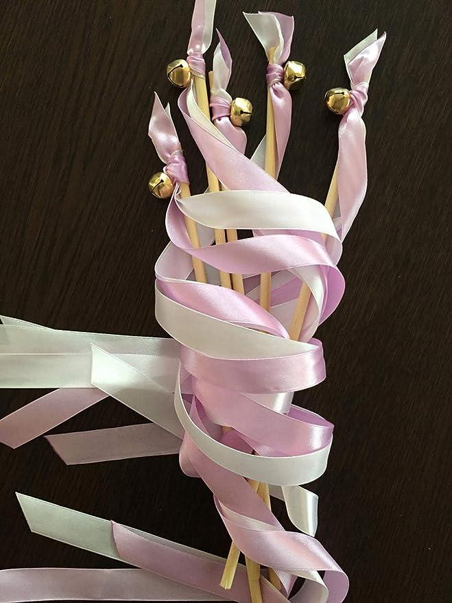 10x Wedding Wands Liebeszauber rosa Spalier Hochzeit Glücksstäbe Stäbe Spitze