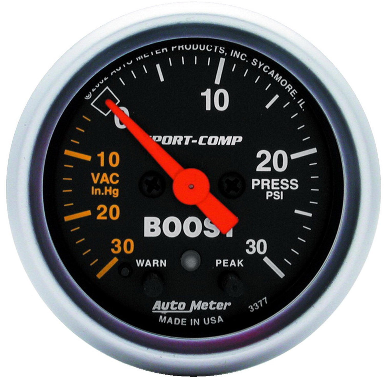 Auto Meter 3377 Sport-Comp Electric Boost/Vacuum Gauge