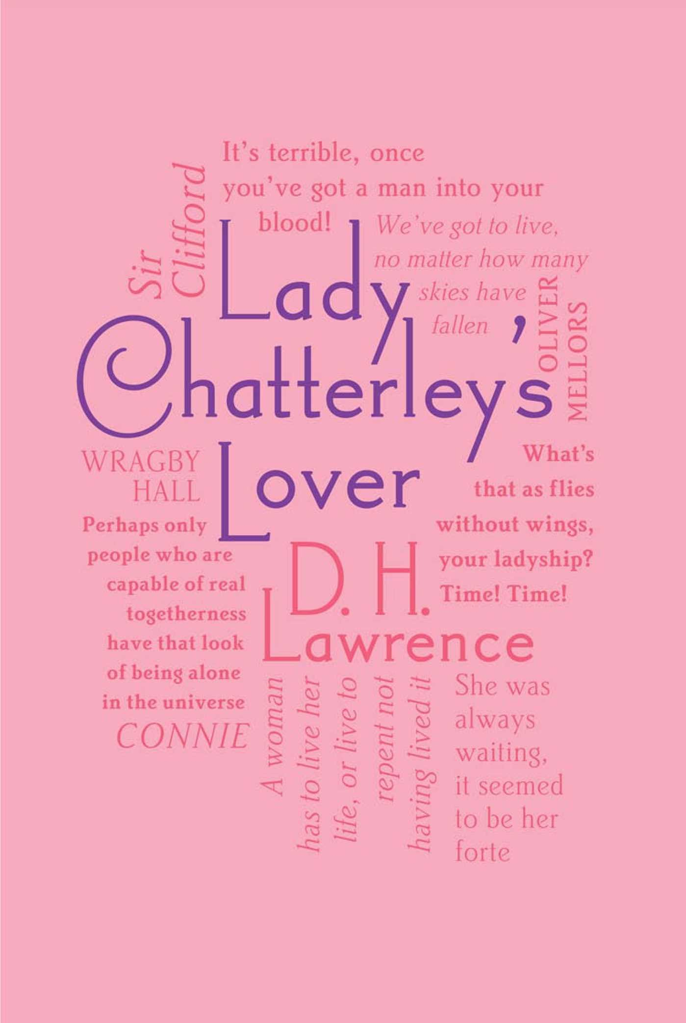 Amazon.com: Lady Chatterley's Lover (Word Cloud Classics): 9781607107361:  Lawrence, D. H.: Books
