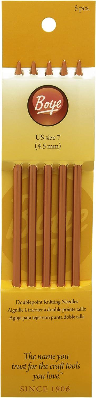 """Boye 6307-6 Double Point Aluminum Knitting Needles 7/""""-Size 6//4mm"""