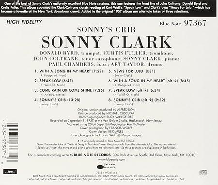 a5e9af9ba8b7c4 Sonny Clark - Sonny s Crib - Amazon.com Music