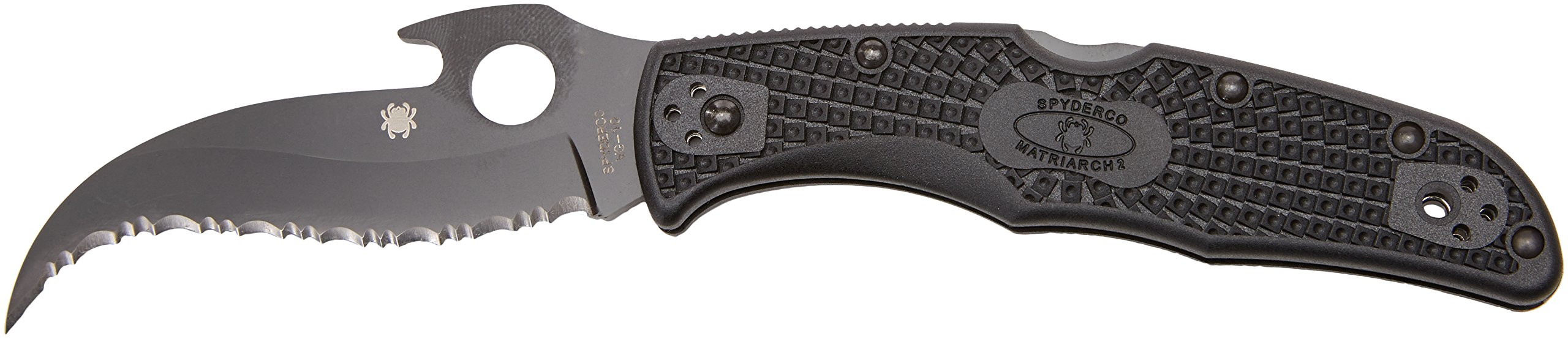 Spyderco C12SBBK2W Matriarch 2 Folding Knife with Emerson Opener, Black, 3.57-Inch by Spyderco (Image #3)