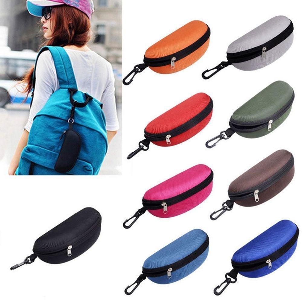 Xinnyuan Practical New Portable Zipper Hard Case Clam Shell Eye Glasses Sunglasses Protector
