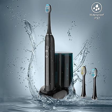 Ovonni – Cepillo de dientes eléctrico ultrasónico con UV stérilisateur-noir