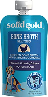 product image for Solid Gold - Human Grade Bone Broth for Dogs - Natural Collagen - Holistic - Grain-Free - Meal Topper