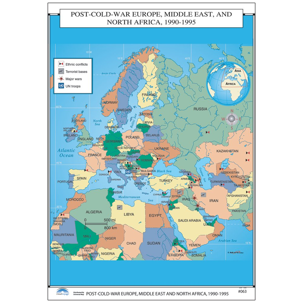 map of europe middle east and north africa Amazon In Buy Post War Europe Middle East North Africa U S map of europe middle east and north africa