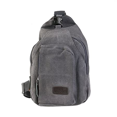 LUOEM Men s Outdoor Sports Casual Canvas Unbalance Backpack Shoulder Bag  Crossbody Sling Chest Bag Premium ( 80e85f1fe6936