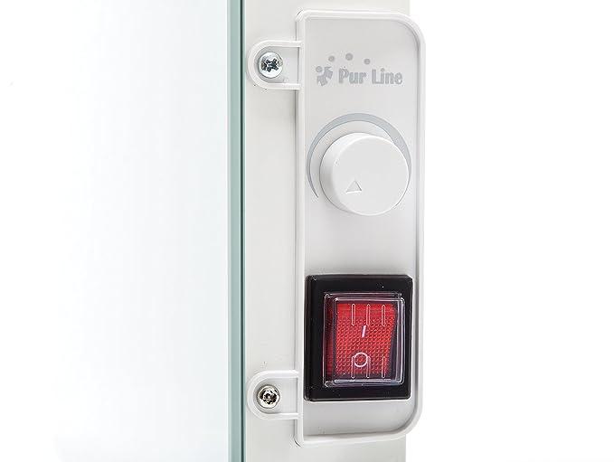 Purline ZAFIR V600T - Radiador Toallero Eléctrico de Cristal Templado y Control por App WIFI, Blanco: Amazon.es: Hogar