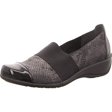 a069ee22 REMONTE Women's Leather Elasticated Slip On Shoe (R9827-45): Amazon ...