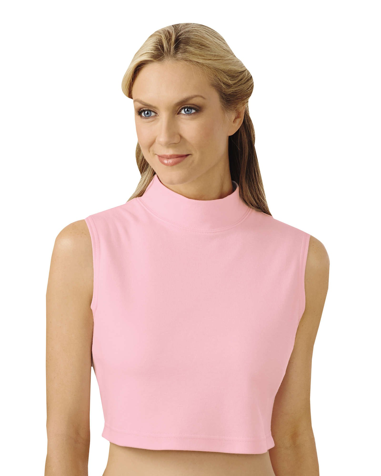 UltraSofts Mock Neck Dickey, Light Pink, 1X/2X