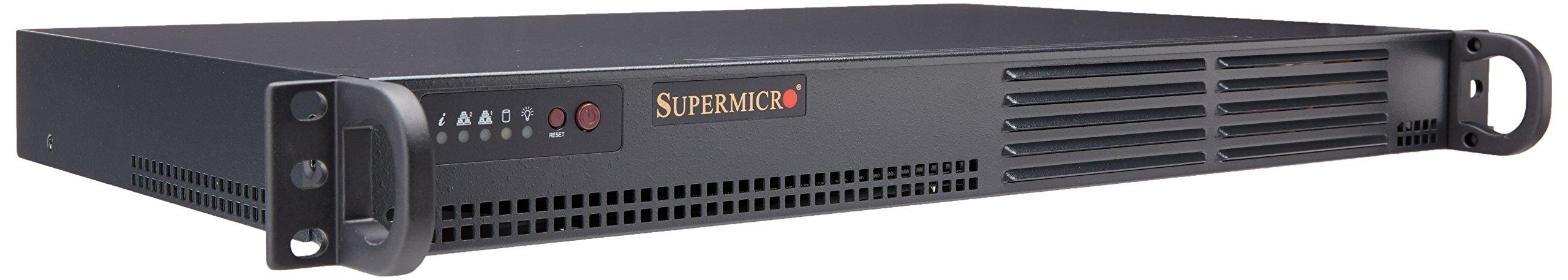 Supermicro SuperServer Atom D510 1U Rackmount Server Barebone System, Black SYS-5015A-PHF