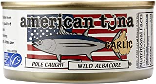 product image for American Tuna MSC Certified Sustainable Pole & Line Caught Albacore Tuna, 6oz Can w/ Garlic, Caught & Canned in America (12 Pack)