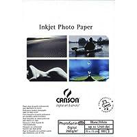 Canson InFinity Digital Photosatin Papier Photo Mat 100 Feuilles 260 g A6 Blanc