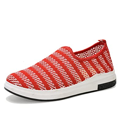 Surprising Day Nice New Summer Flat With Casual Shoes Feminino Breathable Comfortable Soft Women Shoes Fashion Platform Mother Shoes Size 25-61 Black 8