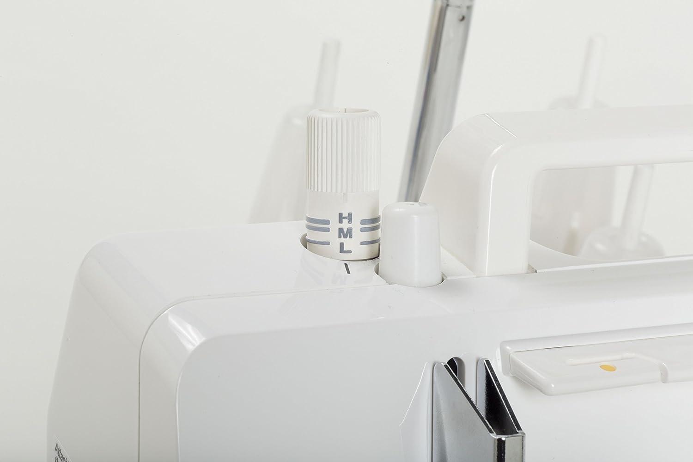 M/étal 28 x 33,5 x 28,5 cm Juki MCS-1500 Recouvreuse 2//3 Aiguilles Blanc