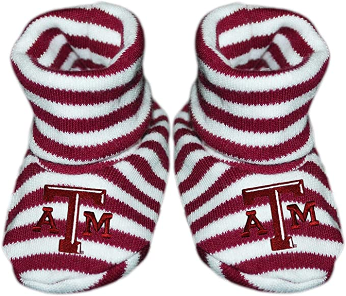 Texas A/&M Aggies Infant Newborn Baby Booties Slippers NEW Shower Gift NCAA