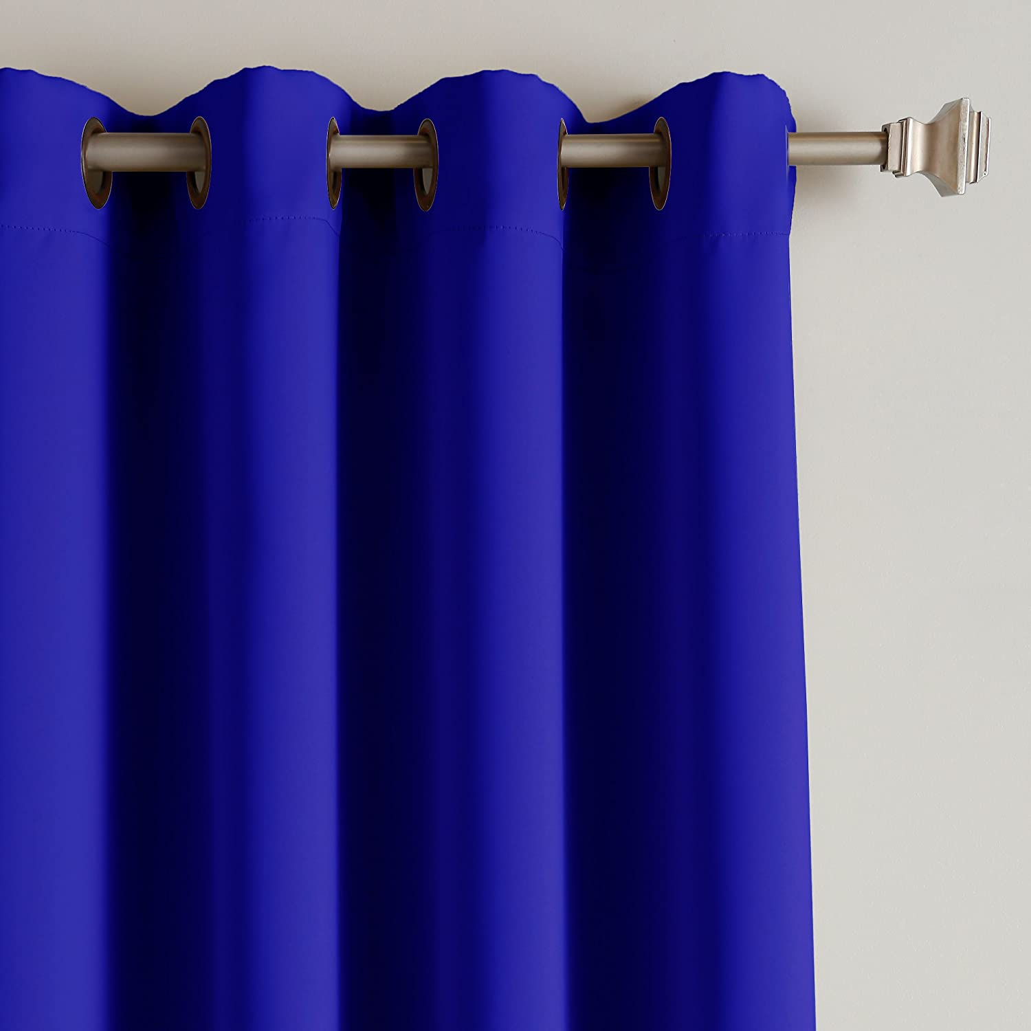Well known Royal Blue Solid Grommet Top Thermal Insulated Blackout Curtains  NM82