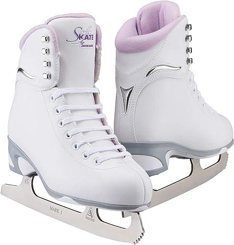 Jackson Ultima Finesse SoftSkate Figure Ice Skates white iwth purple inside
