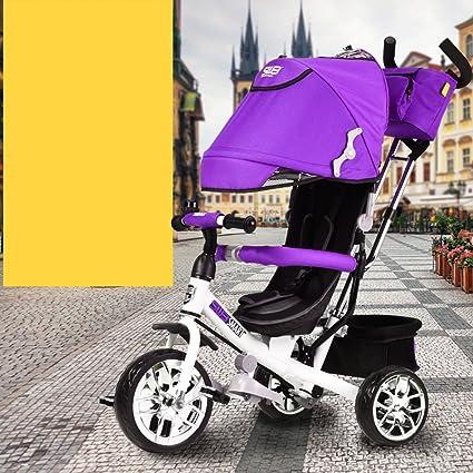 Childrens bike Niños Triciclo Pedal, Carrito de bebé, Cochecito de bebé, Coche de