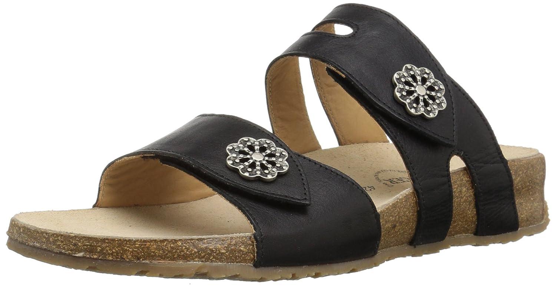 Haflinger Women's Pansy Flat Sandal B07582BC57 36 M EU (5 US)|Onyx