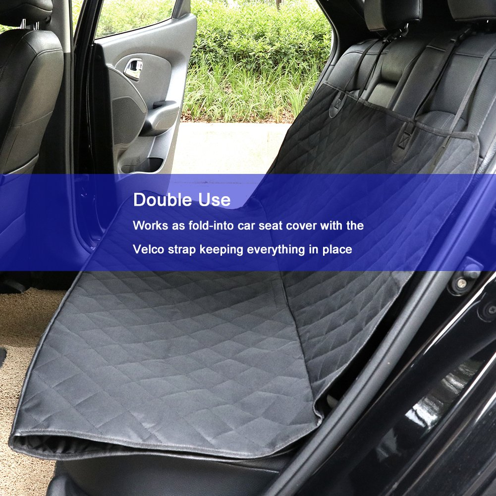 and SUVs TIROL Luxury Car Back Seat Protector for Pets Waterproof Nonslip Support Pet Seat Cover Hammock Convertible for Cars Trucks