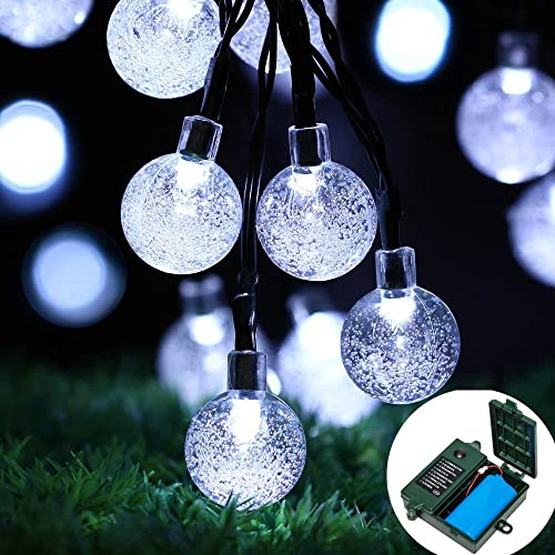 18650 rechargeable battery included easydecor globe battery operated string lights 30 led automatic timer