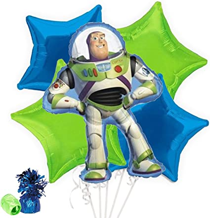 Amazon.com: Toy Story Buzz Lightyear ramo de globos: Toys ...