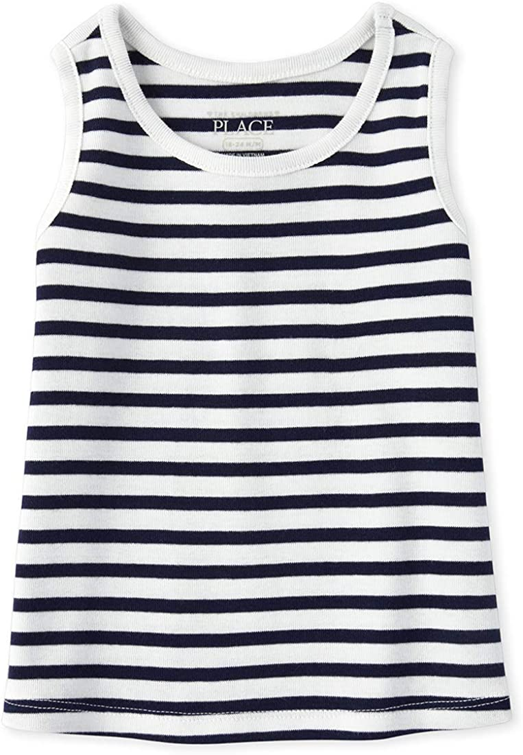 The Childrens Place Baby Girls Stripe Tank Tops
