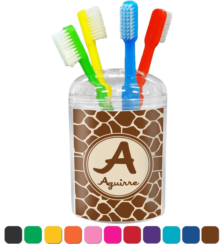 Amazon.com: Giraffe Print Bathroom Accessories Set (Personalized): Home U0026  Kitchen