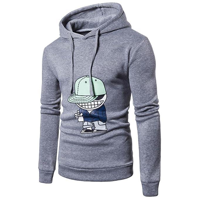 Suéter de los hombres con capucha, Morwind dibujos animados impresa sudadera con capucha camiseta de