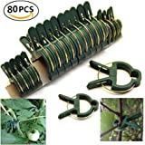 Garden Plant Support Plant Staking Clips for Vines Flower Clips for Gardening Supporting Stems,Vines,Stalks Flower Beds to Grow Upright (80PCS)