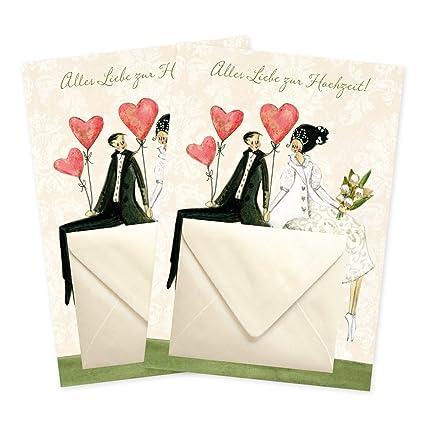 Juego de 2 Dinero Tarjetas de regalo para la boda de Sike Leffler ...