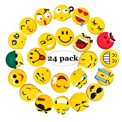 Fridge Magnets 24 Pack Emoji Refrigerator Pvc Magnets Novelty Kitchen Decorative Whiteboard Office Supplies Funny Housewarming Gift