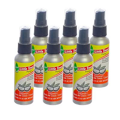 Little Trees 2 Oz. Pump Spray Car, Home and Office Air Freshener, Coco/Coconut (Pack of 6): Automotive