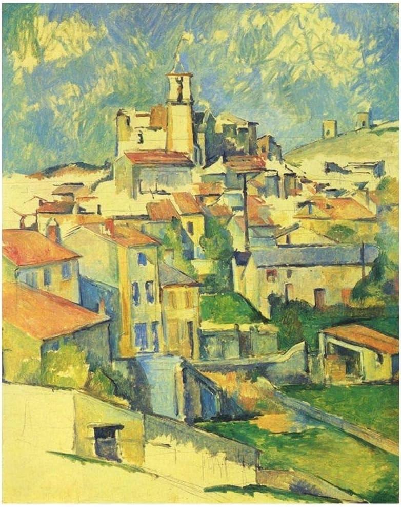 Legendarte Cuadro Lienzo, Impresión Digital - Gardanne Paul Cézanne, cm. 80x100 - Decoración Pared