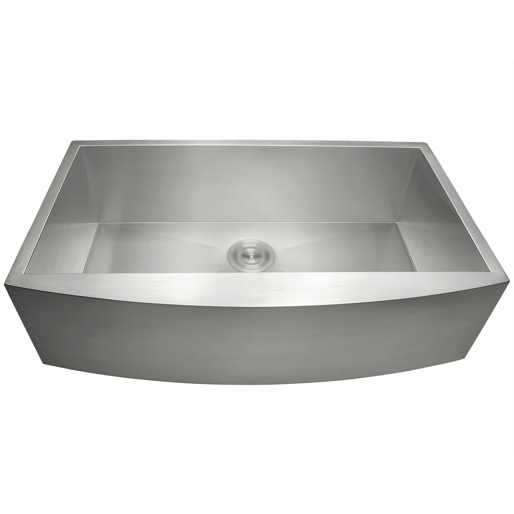 Perfetto Kitchen and Bath 33'' x 22'' x 9'' Apron Undermount Handmade 18 Gauge Stainless Steel Single Basin Kitchen Sink w/ Dish Grid & Drain Combo by Perfetto Kitchen and Bath (Image #3)