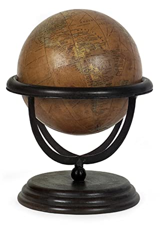 12u0026quot; Exquisite Wooden Globe Decorative Table Top Accent