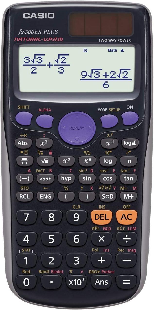 Amazon.com : Casio fx-300ES PLUS Scientific Calculator, Black : Electronics