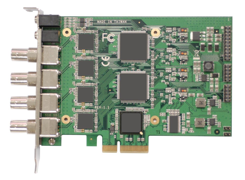 Yuan High-Tech SC510N4 SDI 4ch 1080p HD-SDI Software Compression H.264 Video Capture Card