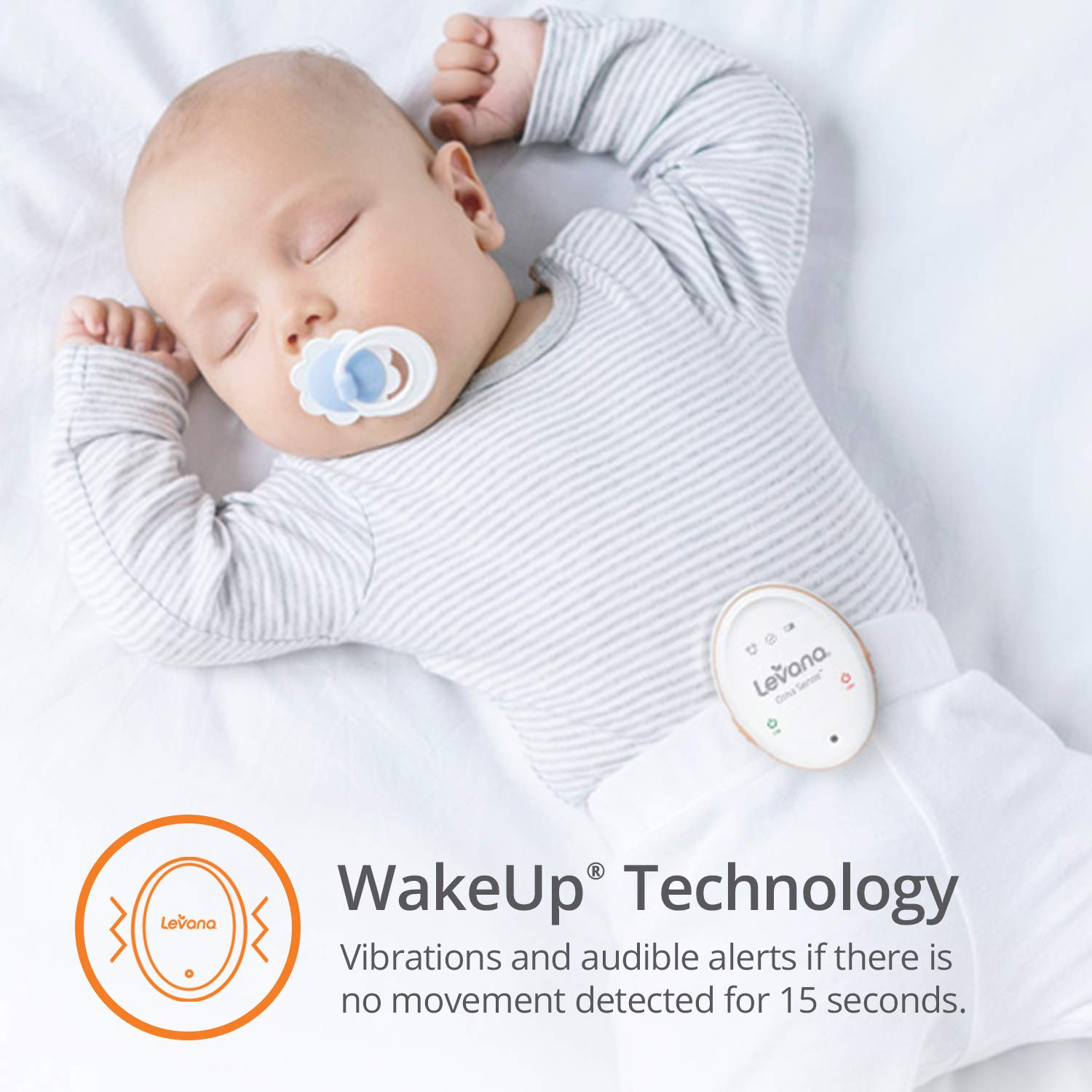 Levana Oma Sense Portable Baby Breathing Movement Monitor with Vibrations and Audible Alerts Designed to Stimulate Baby and Alert Parents by Levana (Image #2)