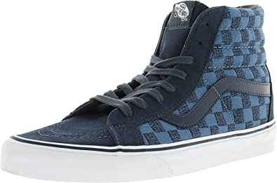 0c8f6e6b188ce Amazon.com | Vans Sk8-Hi Reissue Stitch Checkers Ankle-High Canvas ...