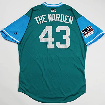 f23aff71c Image Unavailable. Image not available for. Color  ADAM quot THE  WARDEN quot  WARREN GAME USED   WORN 2018 PLAYERS WEEKEND MARINERS JERSEY