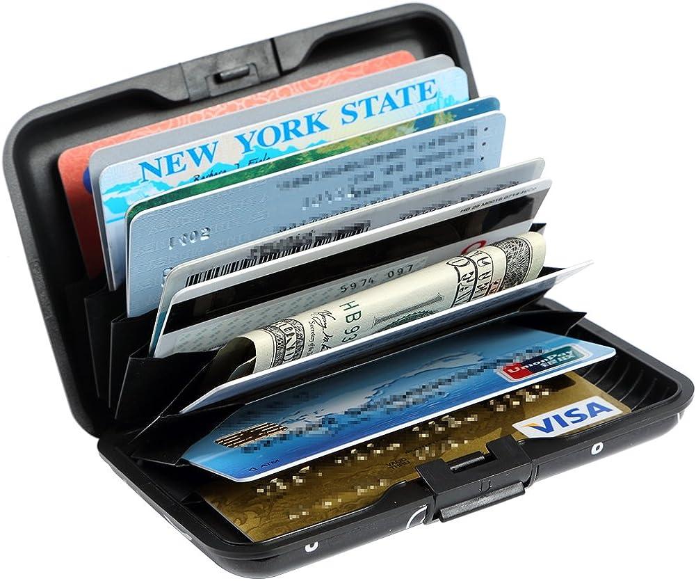 Credit Card Holder Aluminum Wallet RFID Blocking Slim Metal Hard Case