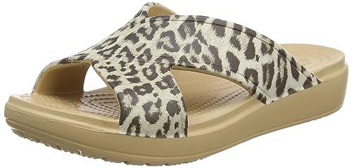 8815fd7bd529 Crocs Women s Sloanegrphxstrp Slide Sandals  Amazon.co.uk  Shoes   Bags