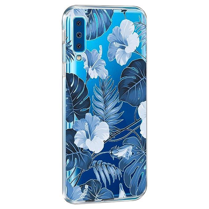 Amazon.com: Compatible con Galaxy A7 2018 Carcasa suave TPU ...